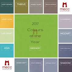 Pantone has announced their 2017 Colour of the Year: Greenery. A refreshing and revitalizing shade, Greenery is symbolic of new beginnings. Web Design Color, Web Design Trends, 2017 Design, Purple Color Combinations, Color Schemes, Verde Greenery, Denim Drift, Web Colors, Paint Colours