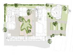 Jardin au Centre de réadaptation Engelsbad à Baden en Autriche