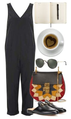 """""""Untitled #5488"""" by rachellouisewilliamson on Polyvore featuring Topshop, Chloé, Ray-Ban and Zone"""