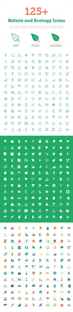 125+ Nature and Ecology Icons
