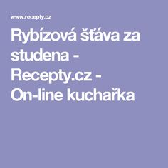 Rybízová šťáva za studena  - Recepty.cz - On-line kuchařka