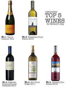 Top 5 Wines that are sure to delight mom this Mother's Day #wine #mothersday