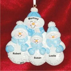 Single Parent First Christmas with 3 Children | Hand Personalized Christmas Ornaments by Russell Rhodes Family Christmas Ornaments, Family Ornament, Baby Ornaments, Personalized Christmas Ornaments, Christmas Baby, Children And Family, Baby Family, Polymer Clay Christmas, Grandparent Gifts