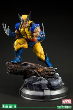 Manufacturer of science fiction, comic, movie and video games figures. Japan. X-MEN DANGER ROOM SESSIONS WOLVERINE FINE ART STATUE