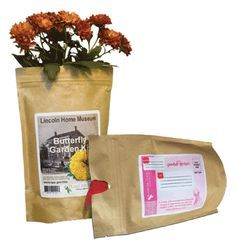 Eco-Friendly Direct Mail Garden Kits made from Kraft pouches... How cool is this?
