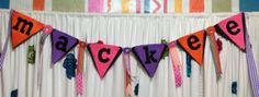 CUSTOM ORDER BUNTING designed just for you  by TheQueensDaughters, $35.00
