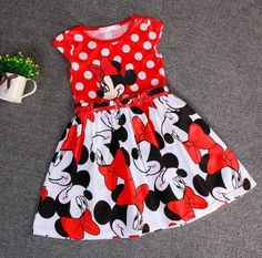 Cheap Dresses, Buy Directly from China Suppliers:Minnie Dress Minnie Mouse Dress Baby Girl Summer Princess Dresses Girl Fashion Dress Robe Fille Enfant Vestido Minnie Baby Girl Dresses, Baby Outfits, Baby Dress, Kids Outfits, Dress Girl, Baby Girls, Newborn Girls, Dot Dress, Kids Girls