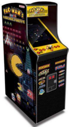 """Pacman's Arcade Party - 30th Anniversary Video Arcade Game - 19"""" Caberet Upright Home Edition / Non-Coin Free Play Model From Namco"""