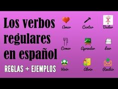 This video covers how to conjugate Spanish regular verbs in the present tense. It has several beautiful pictures, a list of common regular verbs in Spanish, sentences and more. Check the main lesson to learn a lot more :)