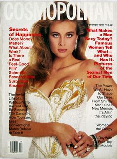 Cosmopolitan magazine, DECEMBER 1987 Model: Frederique Van Der Wal Photographer: Francesco Scavullo