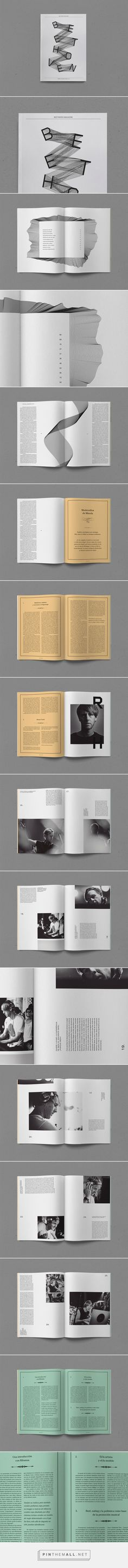 Beethoven Magazine on Behance... - a grouped images picture - Pin Them All