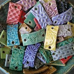 Stoneware ceramic bracelet bars. www.ChinookJewelry.com