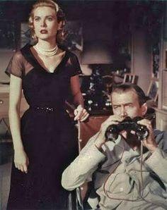 "Hitchcock's ""Rear Window"" with Grace Kelly, James Stewart"