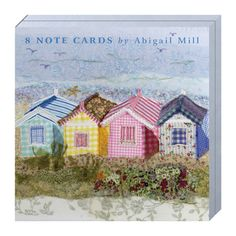 ... Beach Huts / Southwold Green - Notecards from Abigail Mill Embroidery
