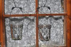 Lanterne in filo di ferro