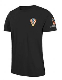 e863d1b53 2018 World Cup T Shirt Croatia Replica Black Tee 2018 World Cup T Shirt  Croatia Replica Black Tee