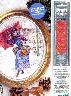 (2) Gallery.ru / Фото #1 - Прогулка по первому снегу - Вышитые картины - irgelena