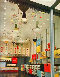 Interior of Barton's Bonbonniere from the 50's | Design consultant: Alvin Lustig - alvinlustig.com | Source - flickr.com/photos/sandiv999