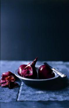 Dark tones, blue. Chris Court, photographer. #photography #food #styling