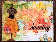 Art journal pages with WOW! embossing powder - Birgit Koopsen