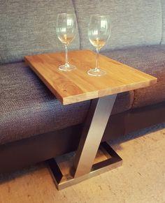 Welded Furniture, Small Furniture, Handmade Furniture, Home Decor Furniture, Industrial Furniture, Furniture Design, Industrial Kitchen Design, Metal Dining Table, Wood Steel
