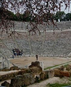 Hundreds of years passed & sound quality still remarkable! at the Ancient #Theatre of Epidaurus, Peloponnese, #Greece