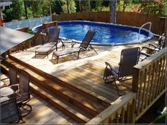 pool decks above ground pool deck oval swimming pool deck railing privacy garden fence - Above Ground Pool Privacy Deck
