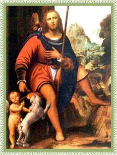 Misericordioso san Roque,   santo virtuoso, clemente y milagroso,   que te entregaste en cuerpo y alma a nuestro Padre Dios   y amaste ...
