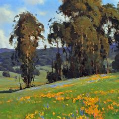 """California Gold"" by Jesse Powell http://jessepowellfineart.com/dataviewer.asp?keyvalue=1859&page=ViewCollection&subkeyvalue=309&startrec=1&displayperpage=9999&displayhorz=2 #landscape #painting #JessePowell"