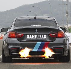 """Dat booty doe!! Tag someone who shoots flames! #bmw_m_nation"""