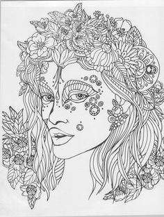 Cool Coloring Pages Sheets Adult Books Papercutting Fantasy Women Big Kids Goddesses Witches Painting On Fabric