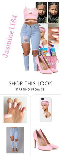 """T-Pain~I'm Sprung"" by jasmine1164 ❤ liked on Polyvore featuring Gianvito Rossi"