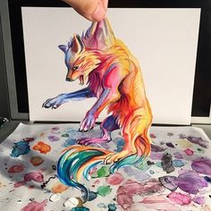 Amazing Colour Pencil Drawings by Katy Lipscomb Art And Illustration, Illustrations, Artwork Lobo, Wolf Artwork, Ouvrages D'art, 3d Drawings, Pencil Drawings, Art Academy, Drawing People