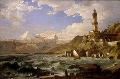 La côte de Gênes de Jasper Francis Cropsey (1823-1900, United States)
