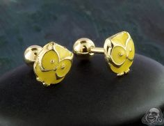 Yellow owl barbell Tragus Jewelry, Barbell, Gauges, Owl, Stud Earrings, Yellow, Accessories, Owls, Stud Earring