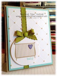 Stampin' Up! Baby Card  by Mindy Backes at Bada-Bing! Paper-Crafting!