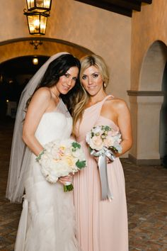 The Bride with her Maid of Honor #TheCrosby #CrosbyWedding #RanchoSantaFe #MaidOfHonor