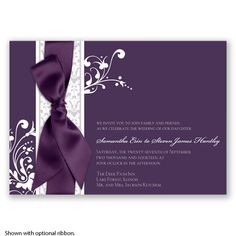 Forever Color - Plum - Invitation | Invitations By David's Bridal
