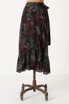 Anthropologie Understorey Skirt Sizes S & M,  Floral Ruffled Wrap Skirt By Maple #Maple #WrapSarong