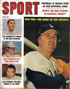 Baseball Magazines 1960s | 1960-Apr-Sport-magazine-Baseball-Duke-Snider-Los-Angeles-Dodgers-EX-No ...