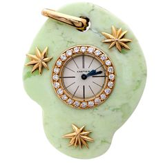 Cartier Paris Jade Watch Pendant  France, Early 20th Century