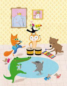Plum Pudding Illustration Agency - Children's Illustration Agency - Illustration Agency - Illustrators - Mar Ferrero Very Big Dog, Jazz Cat, Happy Elephant, Animal Doodles, Kids Art Class, Animal Jam, Children's Picture Books, Music For Kids, Jungle Animals