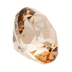 Swarovski Gemstones™️ Peach Topaz Round Faceted Stones Rio Grande Jewelry, Jewelry Making Supplies, Jewelry Findings, Topaz, Swarovski, Peach, Pendants, Gemstones, Chain