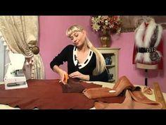 аксессуары из ткани и меха - YouTube