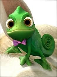 Pascal dressed up haha I'm obsessing over tangled... Sorry guys