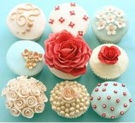 Deliciously Beautiful Cakes Cupcakes For Your Summer Event. Bridal Shower or Garden Party Cupcakes. Pretty Cupcakes, Beautiful Cupcakes, Flower Cupcakes, Wedding Cupcakes, Elegant Cupcakes, Fancy Cupcakes, Yummy Cupcakes, Gourmet Cupcakes, Colored Cupcakes