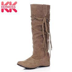 b943b6be8420 KemeKiss women flat half short sexy boots winter snow boot fashion quality footwear  warm botas feminina shoes P8396 size 34-43. Yesterday's price: US $43.25 ...