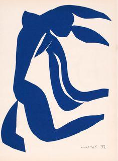 By Henri Matisse (1869-1954), 1952, Nu bleu/ La danse/ La chevelure, Atelier Mourlot, Paris.