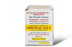 Dead Sea Amazing Minerals Original Salt Face & Body Care Bar - oz Dead Sea Warehouse, Inc. Beauty Tips For Hair, Hair Care Tips, Beauty Guide, Beauty Without Cruelty, Skin Polish, Natural Toothpaste, Body Bars, Bath Soap, Healthy Skin