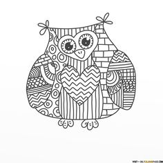 paisley owl coloring pages free online printable coloring pages, sheets for kids. Get the latest free paisley owl coloring pages images, favorite coloring pages to print online by ONLY COLORING PAGES. Detailed Coloring Pages, Doodle Coloring, Coloring Pages To Print, Coloring Book Pages, Printable Coloring Pages, Coloring Pages For Kids, Owl Doodle, Doodle Design, Kindergarten Coloring Pages